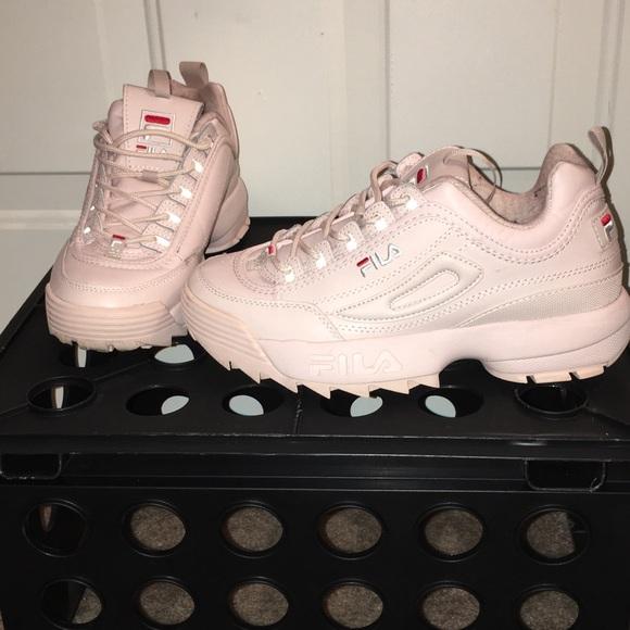 FILA chunky light pink sneakers